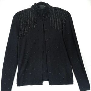 Biline Vintage Silk metallic beaded Sweater Set